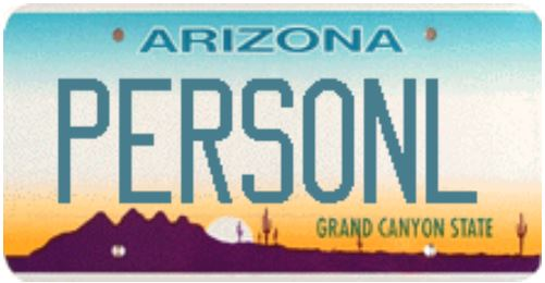 Personlized Arizona License Plates